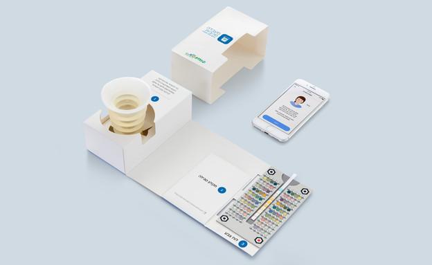 בדיקת שתן מהבית בסמארטפון (צילום: HEALTHY.io)