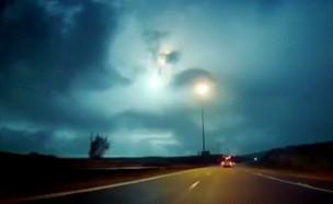 תיעוד מטאור נופל (צילום: באדיבות פעילות מבצעית)