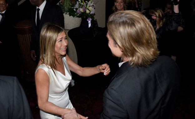 ג'ניפר אניסטון ובראד פיט (צילום: Vivien Killilea/Getty Images for SAG-AFTRA Foundation)