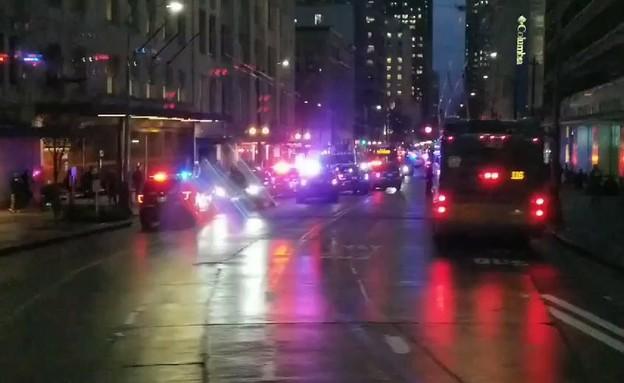 זירת הפיגוע (צילום: NBC)