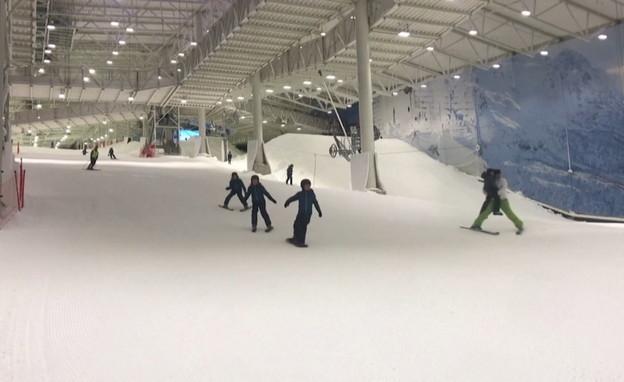שלג מלאכותי באתרי סקי בנורבגיה (צילום: רויטרס)