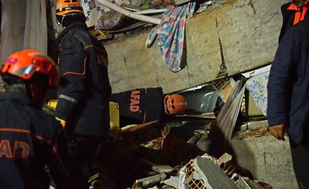 רעידת האדמה בטורקיה (צילום: skynews)