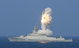 שיגור טיל מספינה (צילום: חיל הים הרוסי)