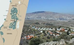 הישוב איתמר ומפת הסכם המאה (צילום: מנחם ברודי, ויקיפדיה)