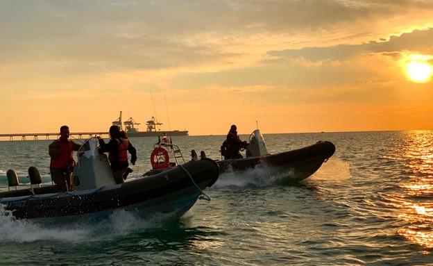 """צוותי חיל הים (צילום: דובר צה""""ל )"""