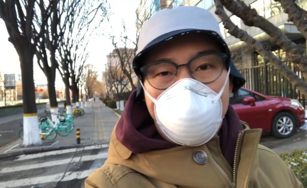 איציק הסיני על וירוס הקורונה בסין (צילום: החדשות 12)