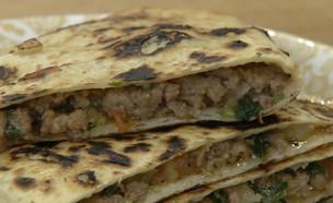 טורטייה גוזלמה טורקית (צילום: מבשלים עם קשת – רותי רוסו, קשת 12)