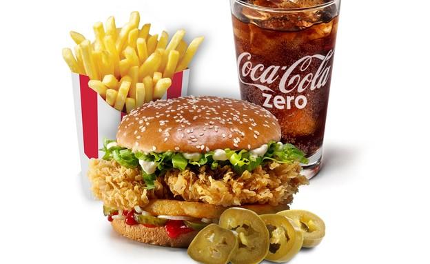 """ארוחת קולונל דאבל טאוור ב-KFC החדש (צילום: רשת KFC, יח""""צ חו""""ל)"""
