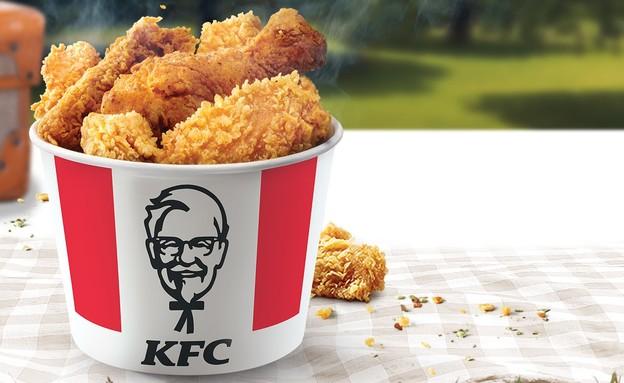 """דלי עוף ב-KFC  (צילום: רשת KFC, יח""""צ חו""""ל)"""