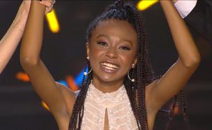 """עדן הזוכה (צילום: מתוך """"הכוכב הבא לאירוויזיון 2020"""", קשת 12)"""