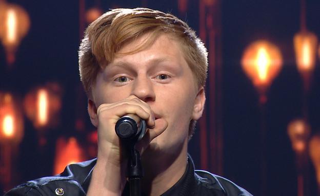 """אור עמרמי ברוקמן בביצוע הגמר (צילום: מתוך """"הכוכב הבא לאירוויזיון 2020"""", קשת 12)"""