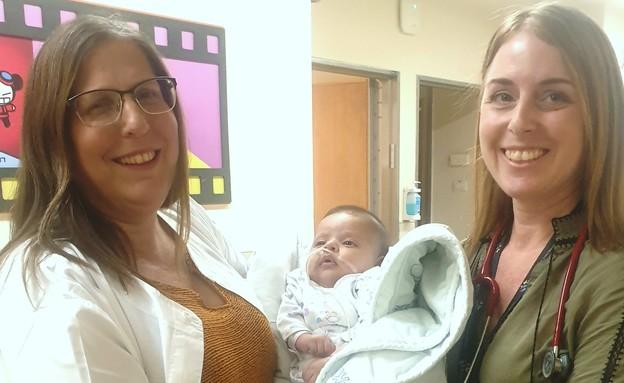 התינוקת שלקתה בבוטולינום (צילום: דוברות סורוקה)