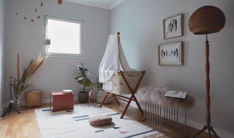 19 - דירה ביפו, עיצוב סטודיו This is IT, חדר תינוקות (צילום: מתן כץ)