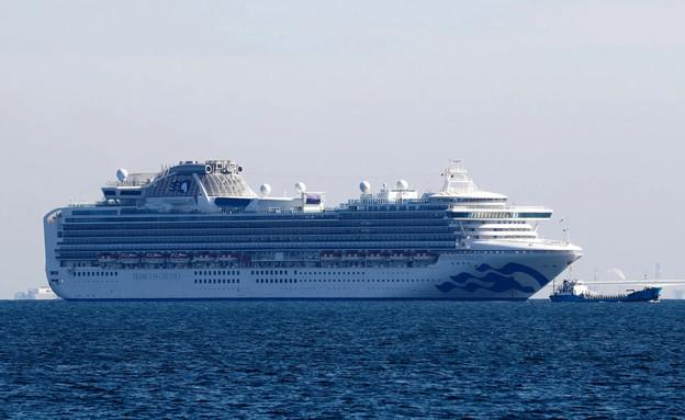 ספינה יפנית בהסגר מחשש לקורונה
