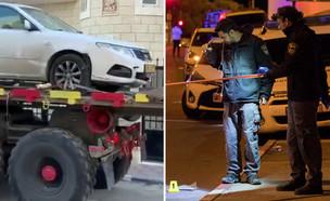 זירת פיגוע הדריסה בירושלים, הרכב הפוגע נמצא (צילום: יונתן זינדל, פלאש 90)
