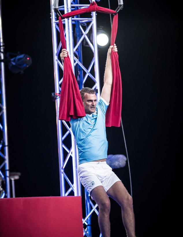 לירן שטראובר בנינג'ה ישראל VIP (צילום: עודד קרני)