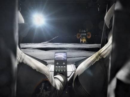 תמונת אילוסטרציה שפרסמה הסוכנות לרכב מאויש על ידי שני אסטרונאוטים