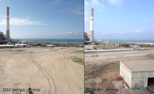 שדה דב, לפני אחרי (עיבוד: משרד הביטחון)