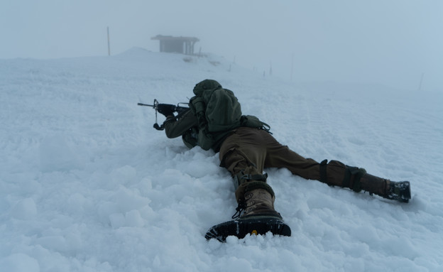 החיילים באזור המוצב הקפוא (צילום: דובר צה