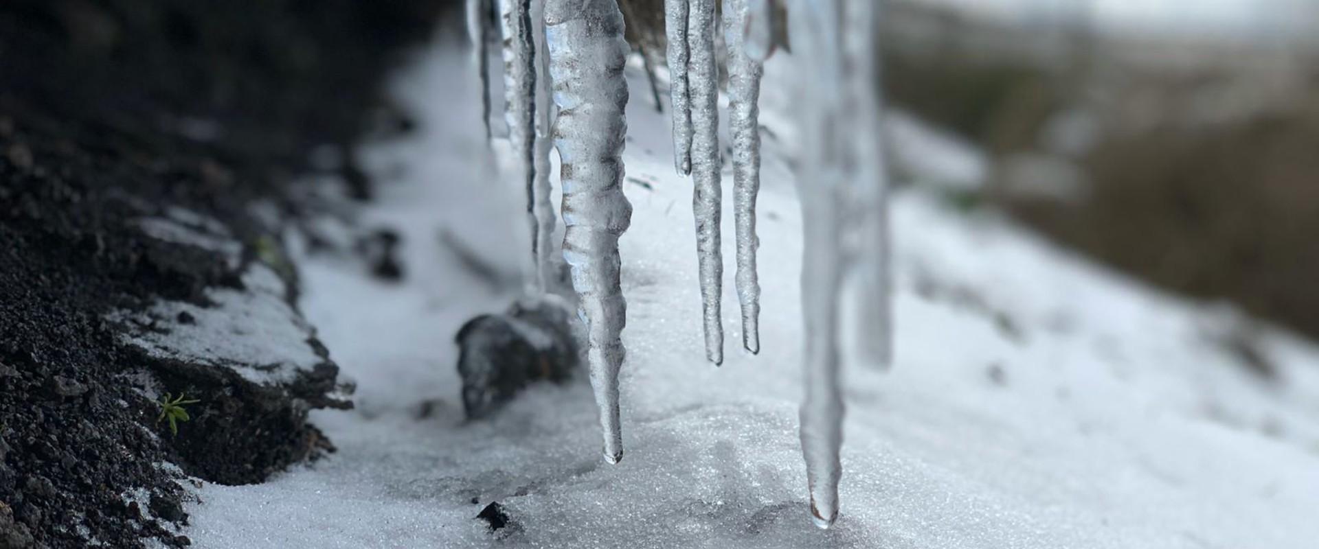 קרח ושלג בארץ (צילום: אופיר בלאו)