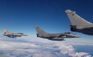 מטוסים ישראלים וצרפתים בתרגול קרב אווירי