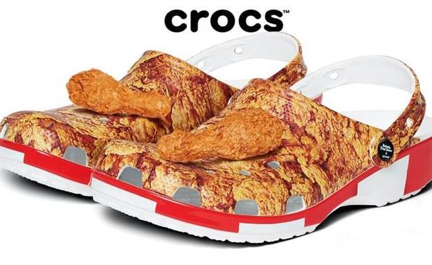 הנעליים החדשות של קרוקס ו-KFC (צילום: crocs)