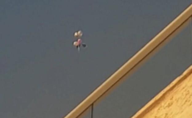 תיעוד: בלון נפץ בשדרות