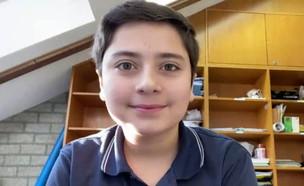 גבריאל הילד מבלגיה שנלחם למען ישראל (צילום: החדשות 12)