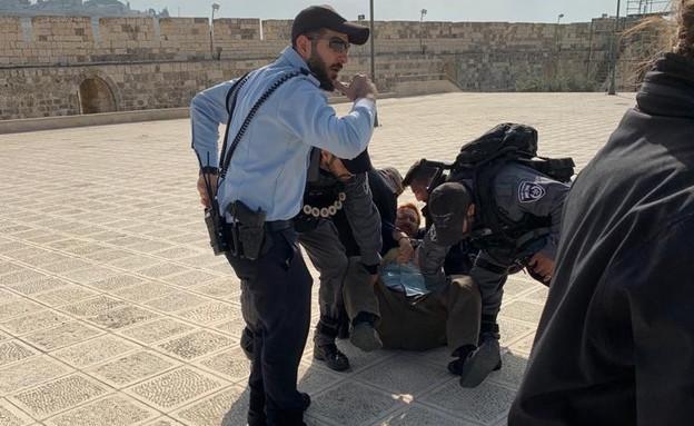 יהודה גליק נעצר בהר הבית (צילום: דמיטרי רדישבסקי)