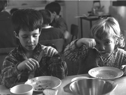 """ילדים בגן בקיבוץ משגב עם (צילום: משה מילנר, לע""""מ)"""