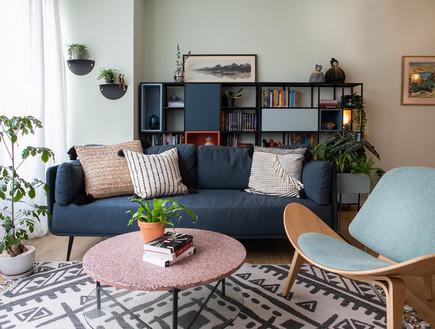 דירה בתל אביב, עיצוב מעיין פיינשטיין (צילום: שירי גרופר לוי)