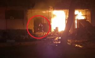 """הפיצוץ באשדוד, הלילה (צילום: אהרון פישר, תיעוד מבצעי מד""""א)"""