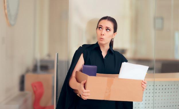 עובדת מתפטרת (צילום: Nicoleta Ionescu, shutterstock)