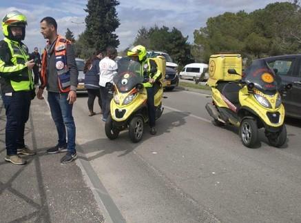 זירת פיגוע הדקירה בארמון הנציב בירושלים (צילום: הצלה ללא גבולות)