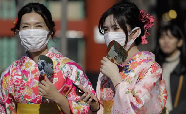 קורונה - יפן (צילום: Jae C. Hong, AP)