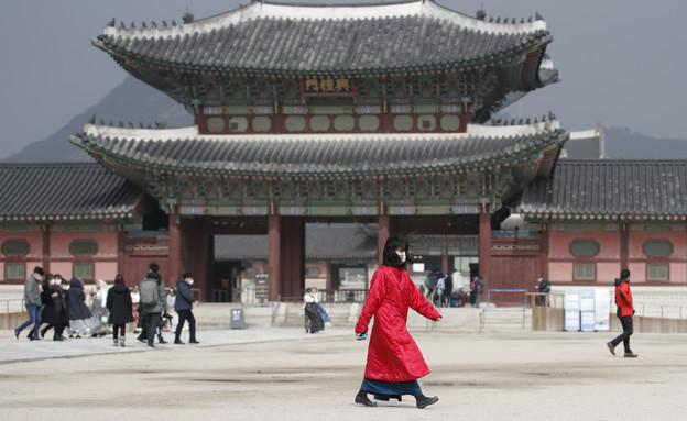 קורונה - דרום קוריאה (צילום: Lee Jin-man, AP)