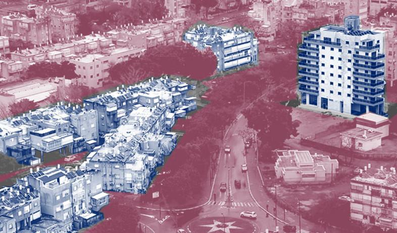 """דירות חדשות בבניינים שעברו תמ""""א 38 לעומת דירות בפר (עיבוד: shutterstock, עיבוד תמונה: טלי בוגדנובסקי)"""
