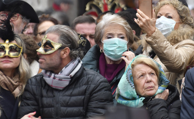 הקורונה מכה באיטליה (צילום: Luigi Costantini, AP)