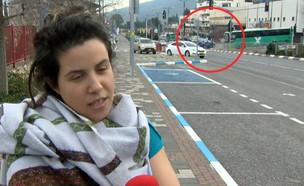 תאונה באמצע ראיון  (צילום: החדשות 12, החדשות12)
