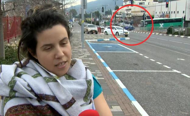 תאונה באמצע ראיון  (צילום: החדשות 12)