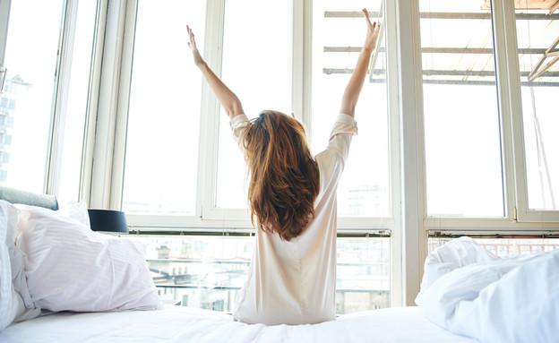 מתעוררת בבוקר (צילום: צילום מסך מתוך ווטסאפ)