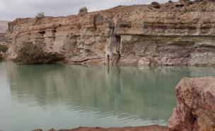 אגם במכתש רמון (צילום: פייסבוק\שרון נהרי חוברה)