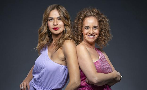 קרן אלאלוף שרעבי ואורנה דץ (צילום: ערוץ 24 החדש)