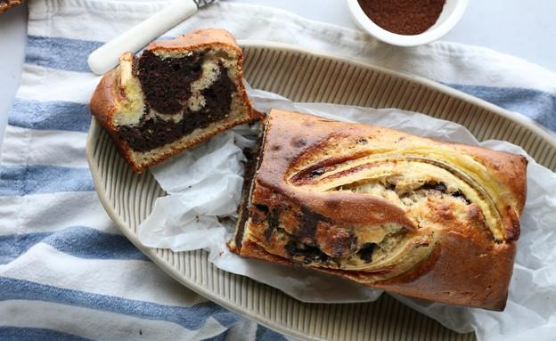 עוגת שיש בננה  (צילום: קרן אגם, אוכל טוב)