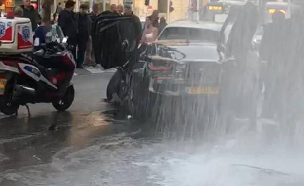 תאונה בשוק רמלה (צילום: קבוצת פעילות מבצעית)