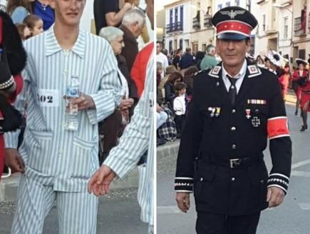 מחזה מכעיס בספרד: תהלוכה נאצית ברחובות