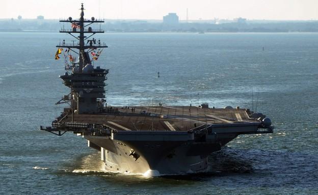 נושאת המטוסים (צילום: Ryan D. McLearnon/U.S. Navy via Getty Images)