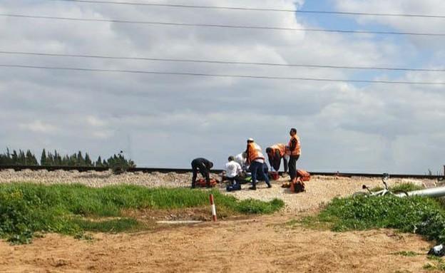 תאונה ברכבת בית יהושע (צילום: באדיבות קבוצת פעילות מבצעית)