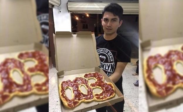 אפס אפס שלוש (צילום: Casera Pizza/Facebook)