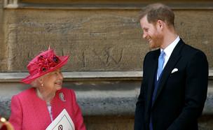 הנסיך הארי וסבתו המלכה אליזבת השנייה (צילום: רויטרס, שי פרנקו, רויטרס)